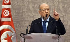 Tunisian newly-elected President Beji Ca