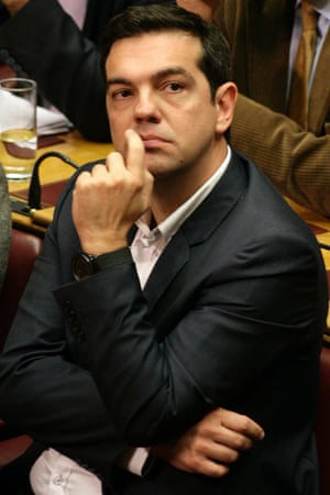 Alexis Tsipras, leader of the main Greek opposition party, the leftwing group Syriza.