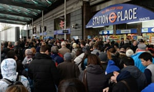 Travel chaos sweeps the UK - Finsbury Park station