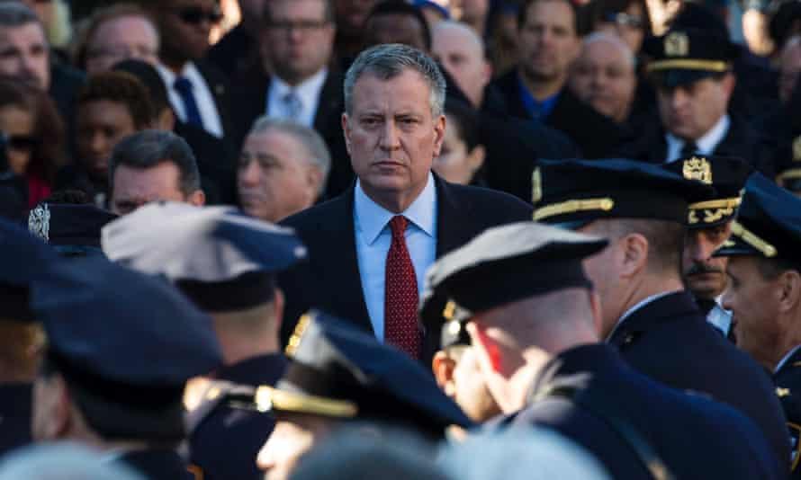 Bill de Blasio NYPD funeral