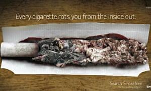 Anti-smoking advert