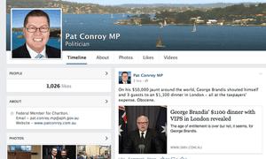 Facebook screenshot of Pat Conroy