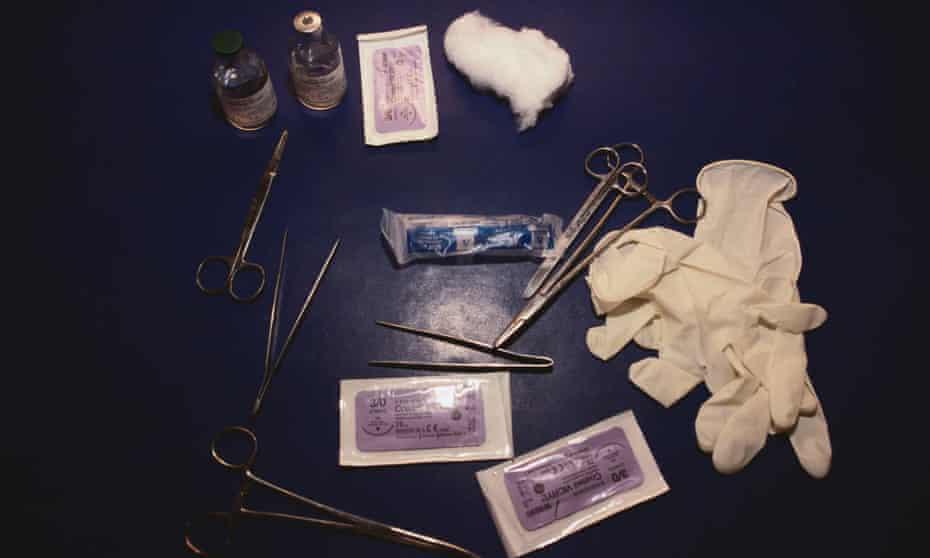 Instruments used in female genital mutilation.
