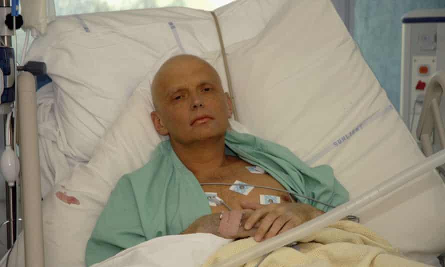 Alexander Litvinenko in intensive care in November 2006