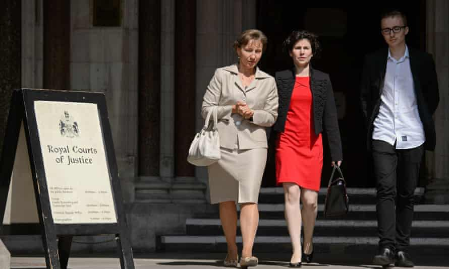 Marina Litvinenko (left) and son Anatoly at the High Court in central London, in July 2014