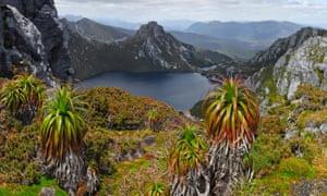 Lake Oberon in Tasmania, Australia.