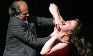 Albert Dohmen  as Duke Bluebeard and Petra Lang as Judith in Duke Bluebeard's Castle, Royal Opera House, 2006.
