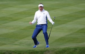 Ian Poulter, Ryder Cup, Gleneagles. 26/9/14.