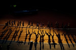 Mens 10,000m final, Commonwealth Games, Hampden Park, Glasgow. 1/8/14.