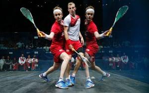 Mens singles squash final, Commonwealth Games, Scotstoun Sports campus, Glasgow. 28/7/14.