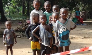 Sierra Leonean children in quarantine