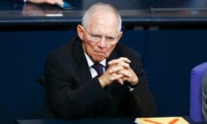 German finance minister Wolfgang Schaeuble. Photo: Reuters/Hannibal Hanschke.