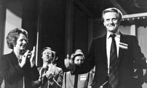 Margaret Thatcher applauding Michael Heseltine in 1980.
