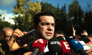 Alexis Tsipras, head of Syriza, after the election announcement. Photo: Reuters/Alkis konstantinidis (