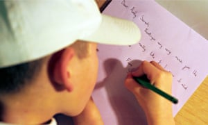 A child writing a thank-you letter