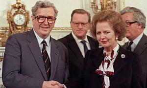 Garret FitzGerald and Margaret Thatcher