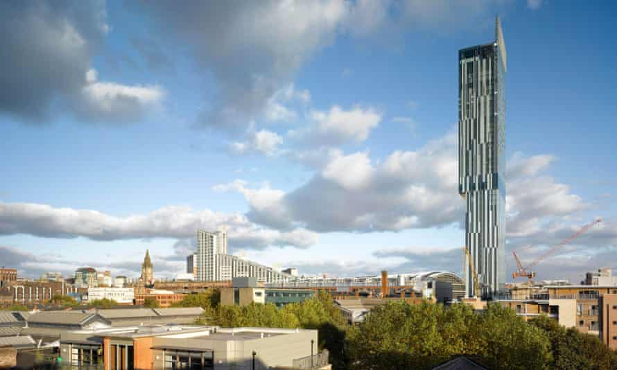 The Beetham Tower, the most visible symbol of shiny new Manchester