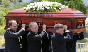 Phillip Hughes casket arrives ahead of the Funeral Service Photo by Brett Hemmings/Getty Images