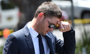Australian Test cricket captain Michael Clarke reacts as he arrives for the funeral of Australian batsman Phillip Hughes in his home town of Macksville in northern New South Wales. AFP PHOTO/WILLIAM WESTWILLIAM WEST/AFP/Getty Images.