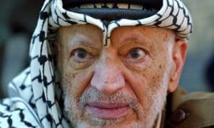 Former Palestinian leader Yasser Arafat