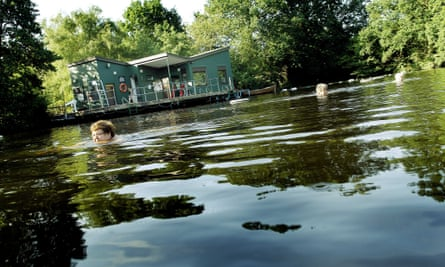 Women swimming in the ladies' bathing pond on Hampstead Heath, north London.