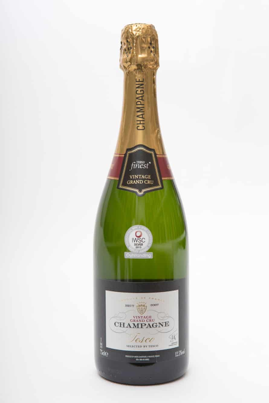 Tesco Finest vintage grand cru champagne.Photo by Graham TurnerFor G2