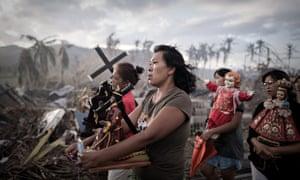 philippines weather typhoon haiyan procession lopez