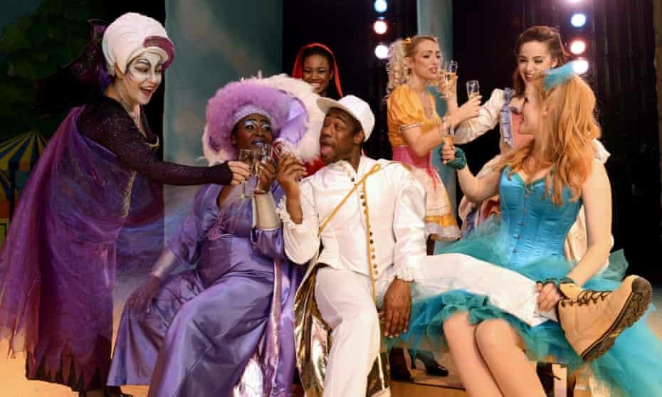 Our testers, the cast of Mother Goose at Hackney Empire.