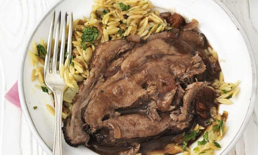 Beef stifado with fennel orzo