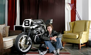 Guy Martin at home in north Lincolnshire.