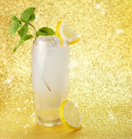 Elderflower collins cocktail