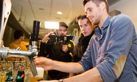 Borussia Dortmund players poured pints at the club's Christmas party on Tuesday to apologise for their poor start to the season.