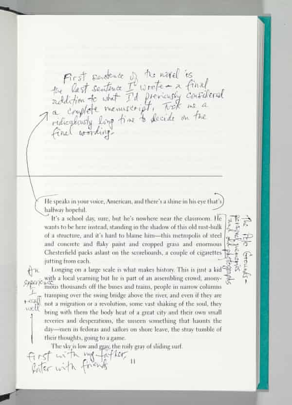 Annotations from Don DeLillo's Underworld for PEN American Center's First Editions, Second Thoughts auction