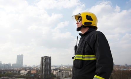 An emergency services worker