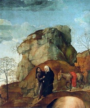 Hugo van der Goes DETAIL from Portinari Altarpiece