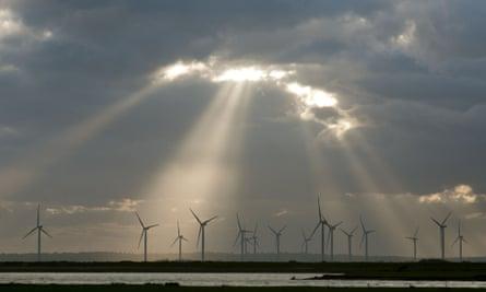 Wind turbines on Romney Marsh