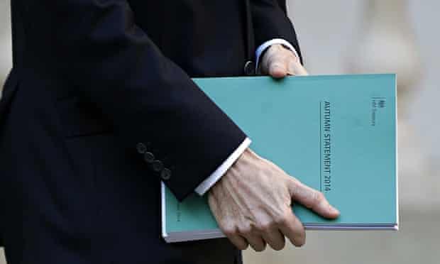 George Osborne carrying autumn statement