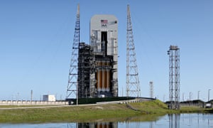 Orion on the launchpad