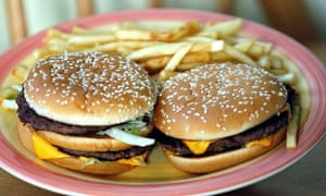 Burgers and chips