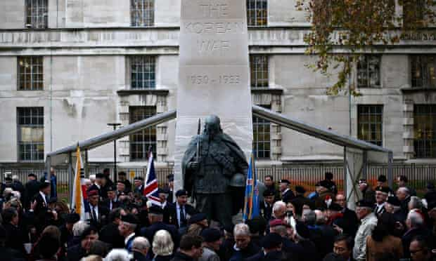 Memorial to those who faught in the Korean war unveiled in London