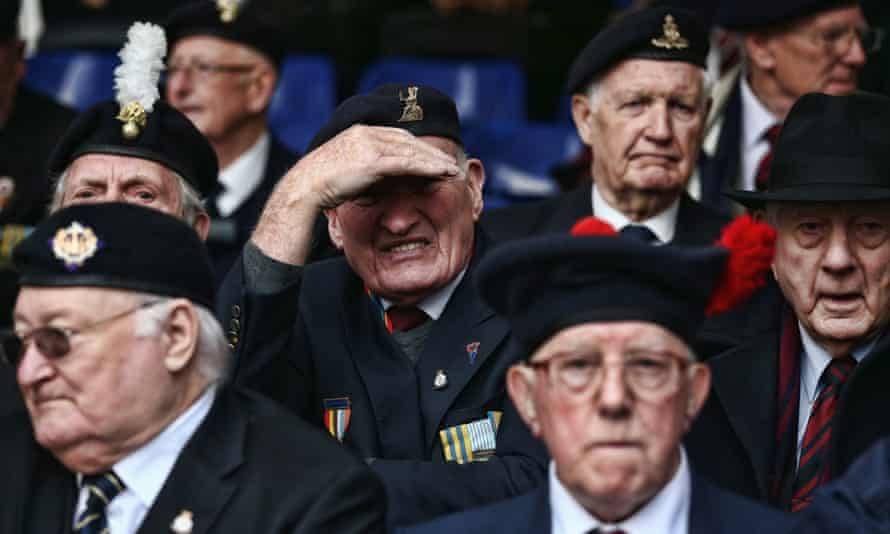 More than 300 veterans attended the ceremony in central London
