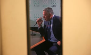 The Treasurer Joe Hockey during an interview this morning in the press gallery of Parliament House in Canberra, Thursday 4th December 2014.