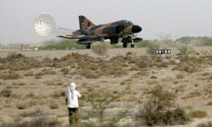 Iran's F-4 fighter jet lands in Chabahar city during a military exercise in June 2009