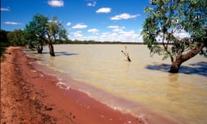 Thunda Lake in south-west Queensland is one area of traditional land that could be affected by mining