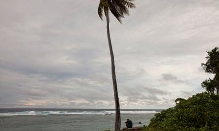 Outside Ijuw camp, Nauru.