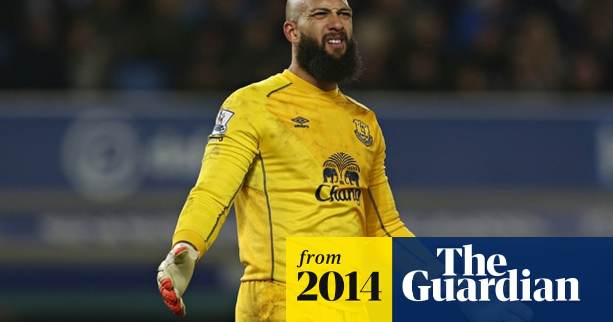 sneakers for cheap c445f 94027 Everton goalkeeper Tim Howard out for up to six weeks with ...
