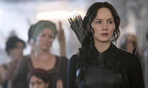 Crowd-pleaser ... Lawrence in The Hunger Games: Mockingjay, part 1