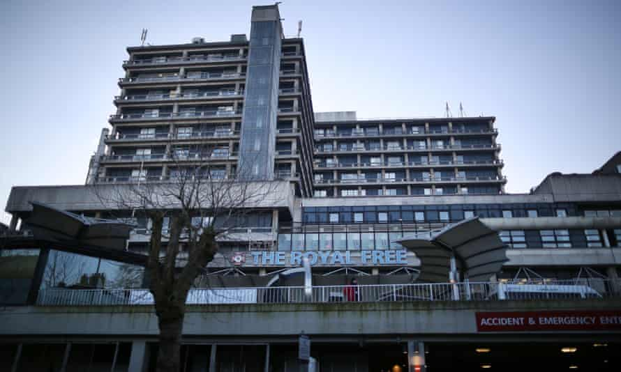 The Royal Free hospital in north London. The high-level isolation unit is located on the top floor.
