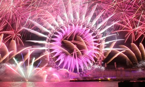 Fireworks light up the London Eye during New Years in 2013.
