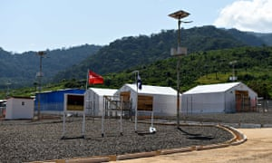 Kerry Town Ebola treatment centre on the outskirts of Freetown, Sierra Leone
